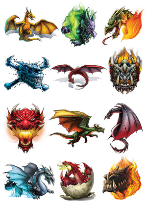 Dragon Temporary Tattoo Set