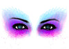 Eyes Temporary Tattoo - Watercolor Tattoos