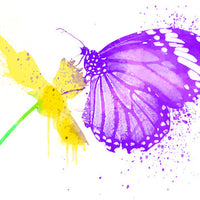 Flower Butterfly Temporary Tattoo - Watercolor Tattoos