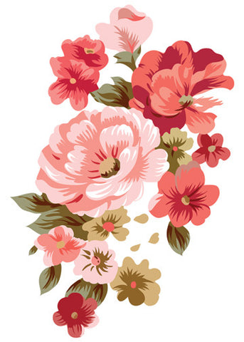 Mixed Flowers Temporary Tattoo - Vintage Floral Tattoos