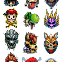 Game Over 3 Temporary Tattoo Collection