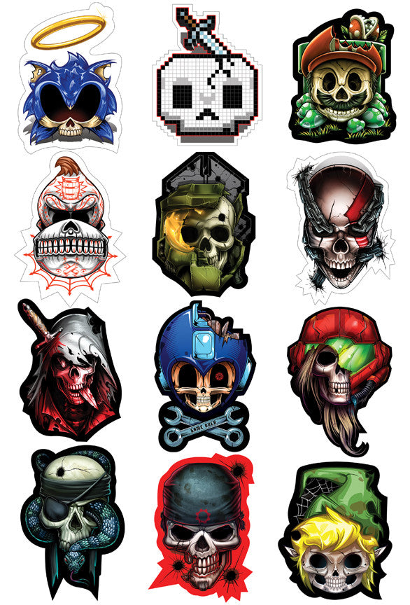 Game Over Sticker Set
