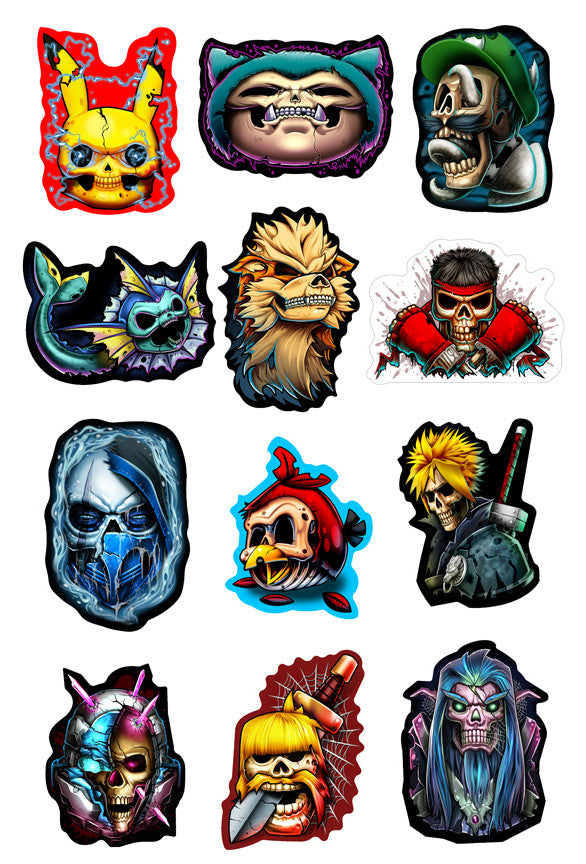 Game Over 2 Sticker Set
