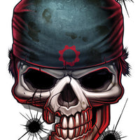 Gears of War Temporary Tattoo - Game Over