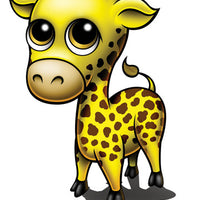 Giraffe Temporary Tattoo - Zootoos