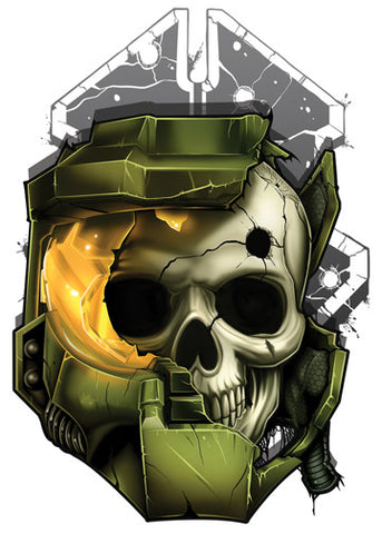 Halo Temporary Tattoo - Game Over