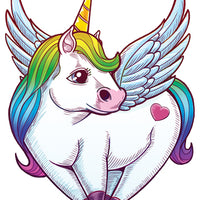 Glitter Unicorn Temporary Tattoo Set