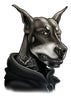 Hoodie Doberman Temporary Tattoos - Inked Dogs Tattoos
