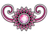 Pink and Black Jewel Temporary Tattoo