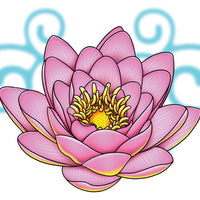 Lotus Lower Back Temporary Tattoo - Upper & Lower Back Tattoos