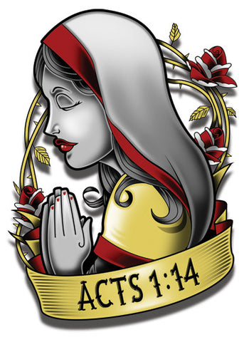 Acts 1:14 Temporary Tattoo - Biblical Tattoos - Jesus Tattoos