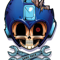 Mega Man Temporary Tattoo - Game Over
