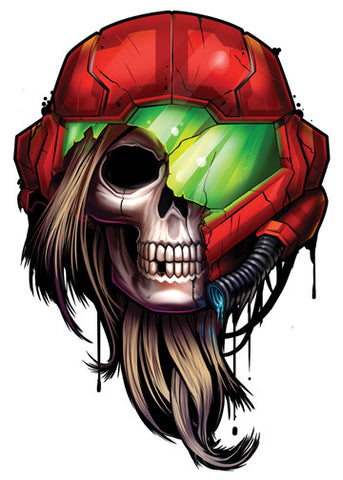 Metroid Temporary Tattoo - Game Over