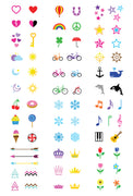 Mini Colors Temporary Tattoo Set