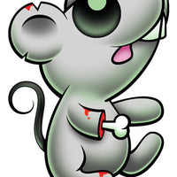 Zombie Mouse Temporary Tattoo - Pettoo Zombies