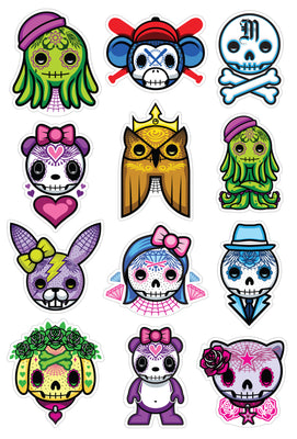 Muertitos Sticker Set