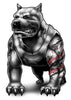 Muscle Pit Temporary Tattoos - Inked Dogs Tattoos