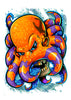 Octopus Temporary Tattoo - Boy Laser Foil Tattoos