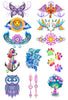 Pastel Mix Temporary Tattoo Set