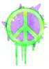 Peace Sign Temporary Tattoo - Watercolor Tattoos