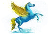 Pegasus Temporary Tattoo - Watercolor Tattoos