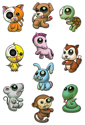 Pettoo Zombie Temporary Tattoo Set