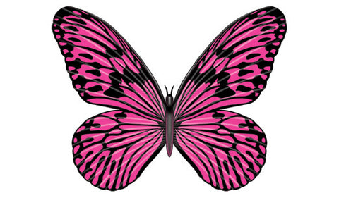 Pink Butterfly-Giant Girls Temporary Tattoo