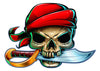 Pirate Temporary Tattoo - Boy Laser Foil Tattoos