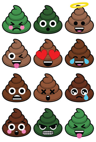 Poopie Sticker Set