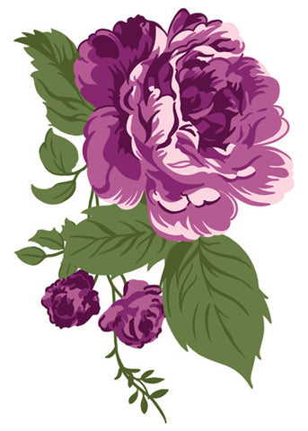 Purple Carnation Temporary Tattoo - Vintage Floral Tattoos
