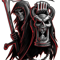 Reaper Temporary Tattoo - Negro y Gris Black and Grey Tattoos