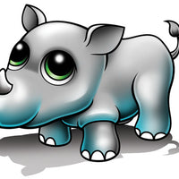 Rhino Temporary Tattoo - Zootoos