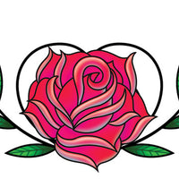 Rose Heart Lower Back Temporary Tattoo - Upper & Lower Back Tattoos