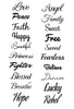 Script Temporary Tattoo Set