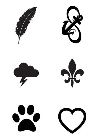 Mini Black Temporary Tattoo Set Tatt Me Temporary Tattoos
