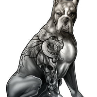 Sleeved Mastiff Temporary Tattoos - Inked Dogs Tattoos