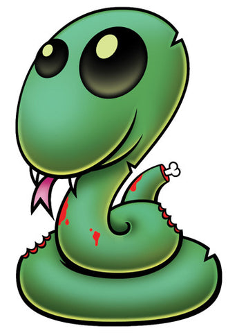 Zombie Snake Temporary Tattoo - Pettoo Zombies
