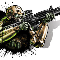 Future Soldier-Black Ops 2 Temporary Tattoo