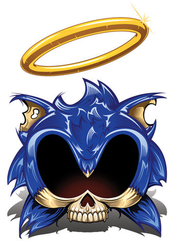 Sonic Temporary Tattoo - Game Over