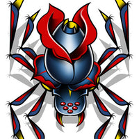 Spider Temporary Tattoo - Boy Laser Foil Tattoos