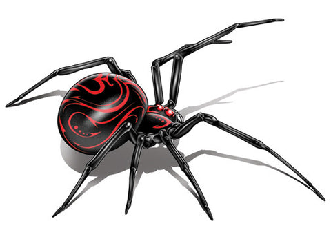 Black Widow Temporary Tattoo - Negro y Gris Black and Grey Tattoos