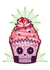 Sugar Skull Cupcake Temporary Tattoo - Creepy Cakes Tattoos