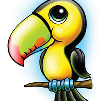 Tucan Temporary Tattoo - Zootoos