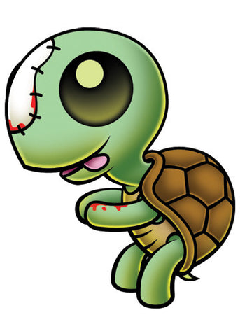 Zombie Turtle Temporary Tattoo - Pettoo Zombies