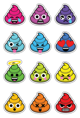 Unicorn Poo Sticker Set
