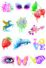 Watercolor Tattoos Temporary Tattoo Series