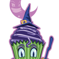 Witch Cupcake Temporary Tattoo - Creepy Cakes Tattoos