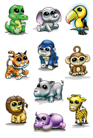Zootoos Temporary Tattoo Set