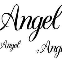 Angel Temporary Tattoo-Script Tattoos