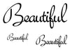 Beautiful Temporary Tattoo-Script Tattoos